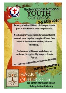 Esker Youth Congress - 2nd -5th August @ Esker Monastery | Galway | Ireland